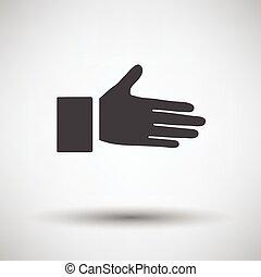 Open hend icon