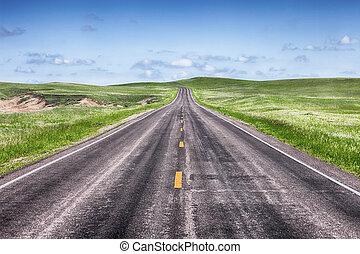 Open Highway On The Prairie