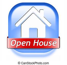 open house button