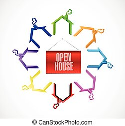 open house concept illustration
