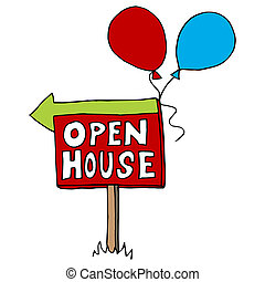 Open House Sign - An image of an open house sign.