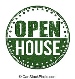 Open house stamp