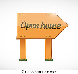 open house wood sign concept