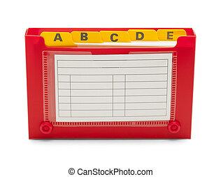 Open Index Card Holder