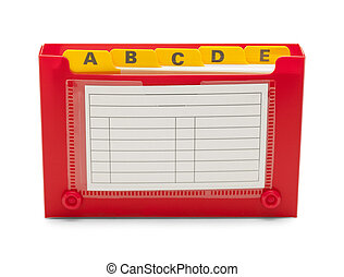 Open Index Card Holder
