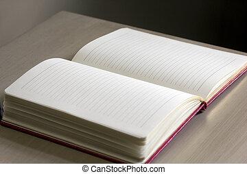 Open Journal On Desk