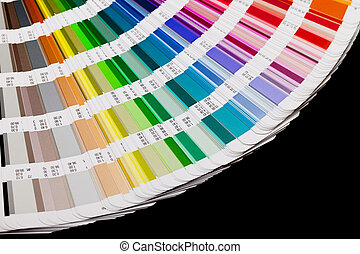 open, kleur, gids, swatch, closeup