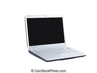open laptop. isolated on a white background.