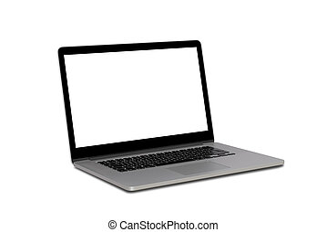 open laptop isolated on white background