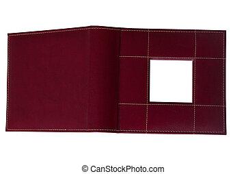 Open Leather Photo Album