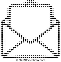 Open Letter Halftone Dotted Icon
