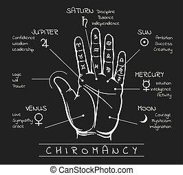 open, lezende , palm, lot