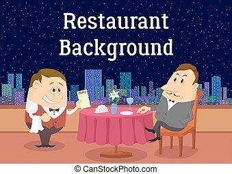 open lucht, heer, restaurant