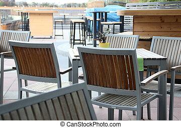open lucht, koffiehuis