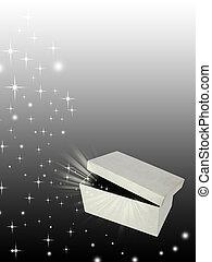 Open magic gift box
