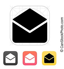 Open mail icon. Vector illustration.