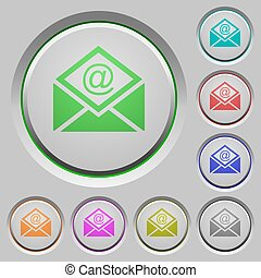 Open mail with email symbol push buttons