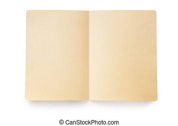 Open Manila Folder (with Path) - Open manila folder, casting...