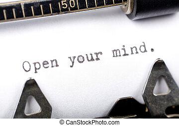 open mening, jouw