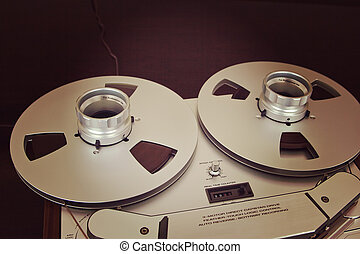 Open Metal Reels With Tape For Professional Sound Recording ...