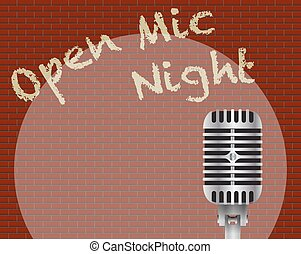 Open Mic Night With Microphone - An Open Mic Night With...