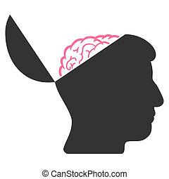 Open Mind Raster Icon
