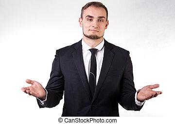 Open-minded businessman