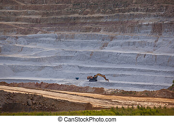 Open mine pit - A cliff face of an open pit mine