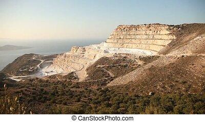 Open Mining - video footage of open mining, crete, greece