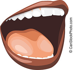 Open mouth. Vector illustration