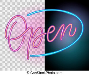 Open. Neon sign