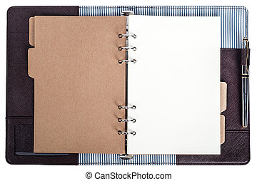open notebook isolated - open notebook in isolated