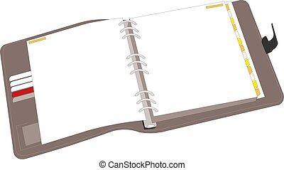 Open notebook vector illustration eps10
