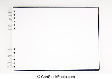Open notepad - Open white notepad isolated on white