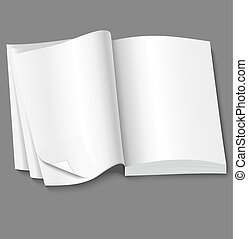 open of book with blank white pages