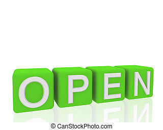 open on boxes