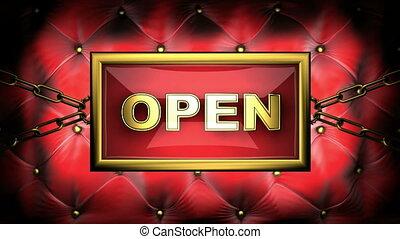 open on velvet background