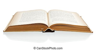open, oud, boek