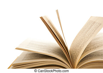 open pages of the book
