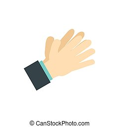 Open palm icon, flat style