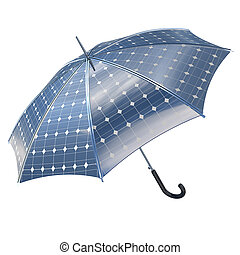 open photovoltaic umbrella stick concept