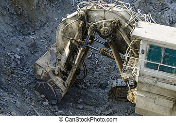 Open pit machinery