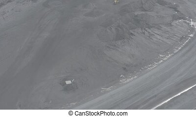 Open pit mine, breed sorting, mining coal, extractive...