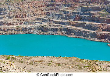 Open pit mine for mining of crushed stone