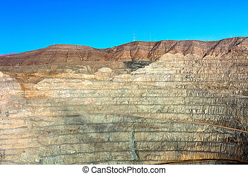 Open pit mine in northern Chile