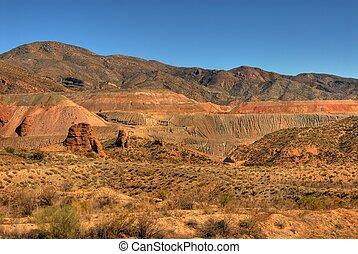 Open Pit Mine - Open pit mine in the desert southwest