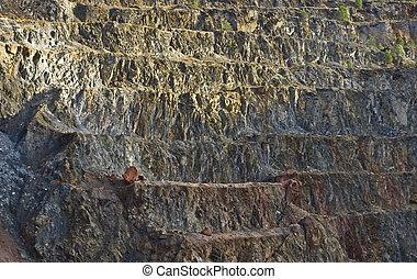 open pit mine - pyrite mine open pit