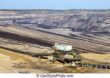 Open pit mine  - Brown coal open pit mine