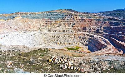 Open pit mine in Balaklava near Sevastopol city