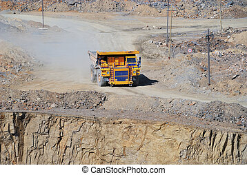 Open-pit Mine with Dump Truck